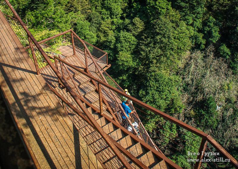 Как попасть на мост над каньоном Окаце