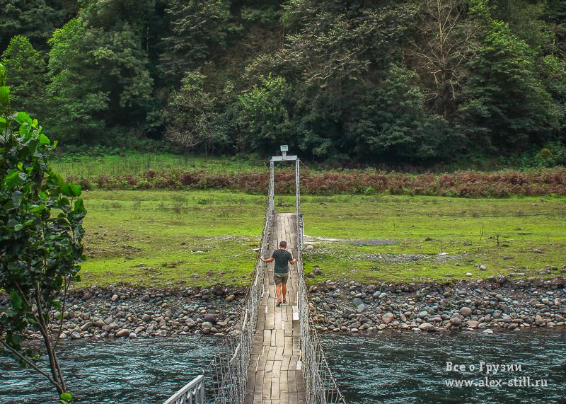 Подвесной мост в нацпарке