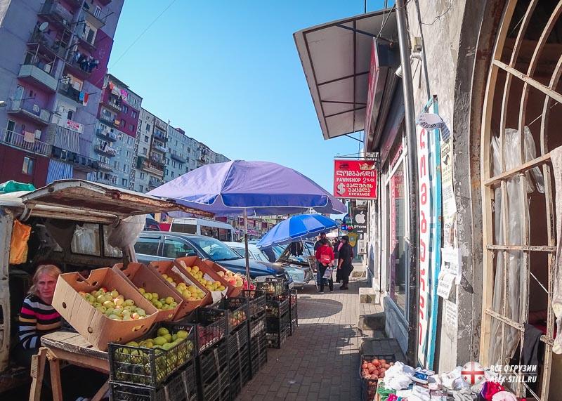Где находится рынок Хопа в Грузии