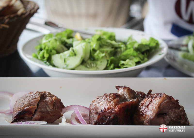 Мясо в ресторанах в Батуми